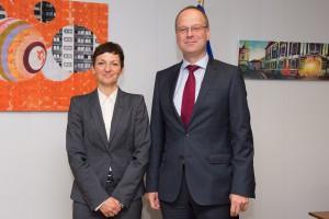 Maja Makovec Brencic, on the left, and Tibor Navracsics